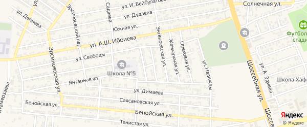 Переулок 1-й С.Диканиева на карте Аргуна с номерами домов