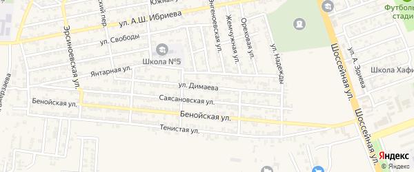 Улица У.Димаева на карте Аргуна с номерами домов
