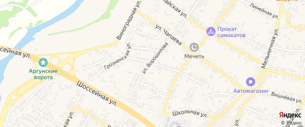 Красноармейская улица на карте Аргуна с номерами домов