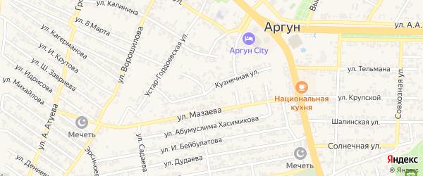 Кузнечная улица на карте Аргуна с номерами домов