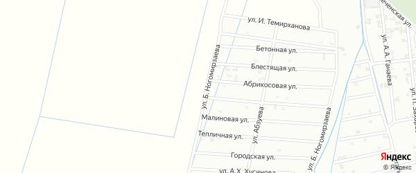 Улица Б. Ногомирзаева на карте Шали с номерами домов
