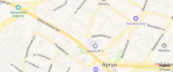 Устар-Гордоевская улица на карте Аргуна с номерами домов
