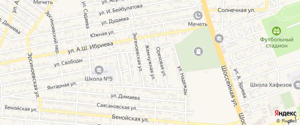 Жемчужная улица на карте Аргуна с номерами домов