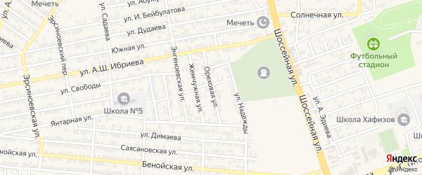 Ореховая улица на карте Аргуна с номерами домов