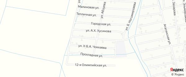 9-я Олимпийская улица на карте Шали с номерами домов
