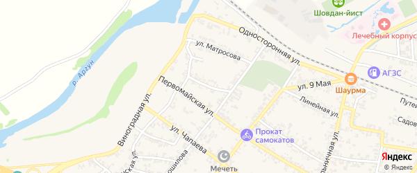 Безымянный переулок на карте Аргуна с номерами домов
