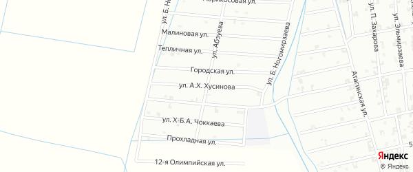 8-я Олимпийская улица на карте Шали с номерами домов