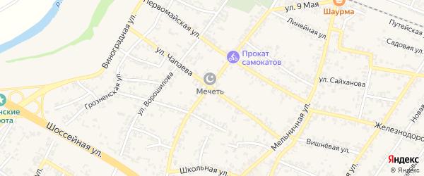 Переулок В.Чапаева на карте Аргуна с номерами домов