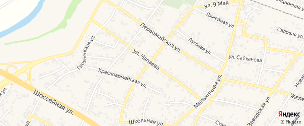 Улица В.Чапаева на карте Аргуна с номерами домов