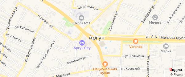 Махачкалинская улица на карте Аргуна с номерами домов