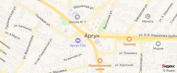 Переулок Кахира Кагирова на карте Аргуна с номерами домов