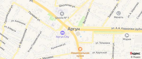 Переулок Центральная усадьба на карте Аргуна с номерами домов