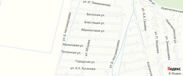 4-я Олимпийская улица на карте Шали с номерами домов