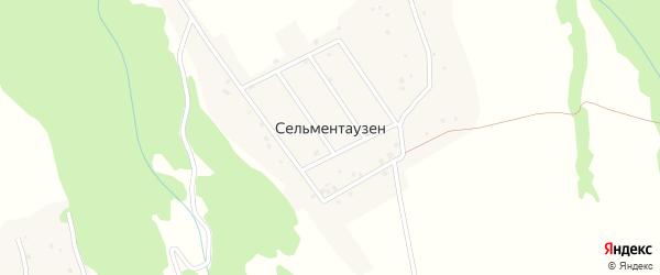 Улица Омарова М. на карте села Сельментаузена с номерами домов