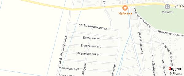 1-я Олимпийская улица на карте Шали с номерами домов