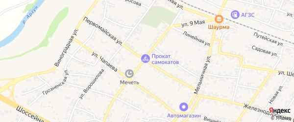 Первомайская улица на карте Аргуна с номерами домов