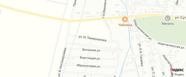 Улица И.Темирханова на карте Шали с номерами домов