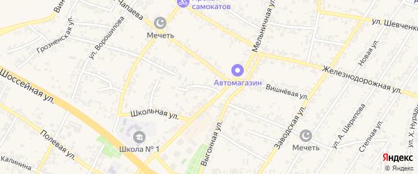 Тупой переулок на карте Аргуна с номерами домов