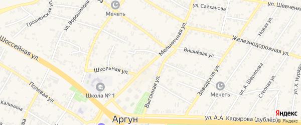 Мельничная улица на карте Аргуна с номерами домов