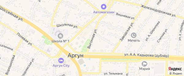 Выгонная улица на карте Аргуна с номерами домов