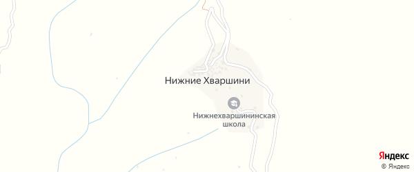 Улица Аси Денисенко на карте села Нижние Хваршини с номерами домов