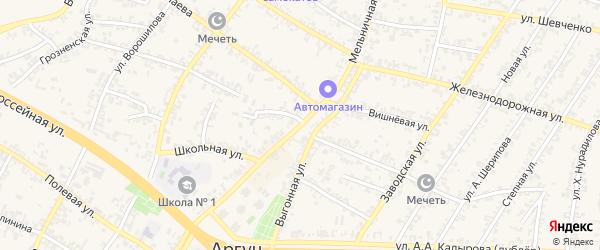 Мельничная улица на карте села Мескер-Юрт с номерами домов