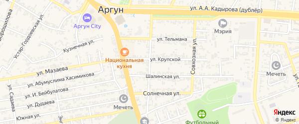 Интернациональная улица на карте села Мескер-Юрт с номерами домов
