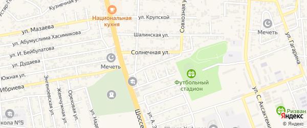 Кавказская улица на карте Аргуна с номерами домов