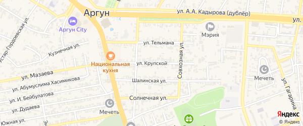 Улица Н.Крупской на карте Аргуна с номерами домов