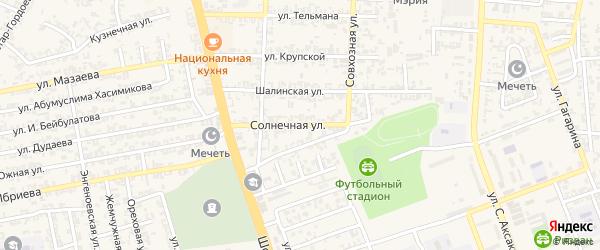 Солнечная улица на карте Аргуна с номерами домов
