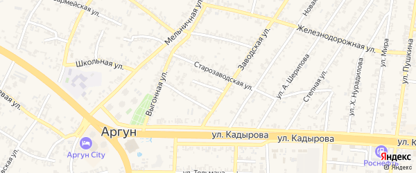 Переулок 2-й Р.Бацуева на карте Аргуна с номерами домов