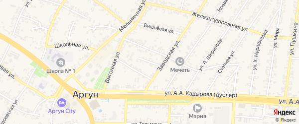 Переулок 2-й М.Дудаева на карте Аргуна с номерами домов