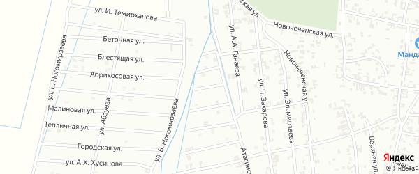 3-й Атагинский переулок на карте Шали с номерами домов