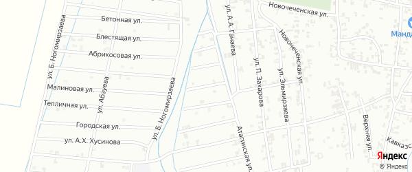 4-й Атагинский переулок на карте Шали с номерами домов