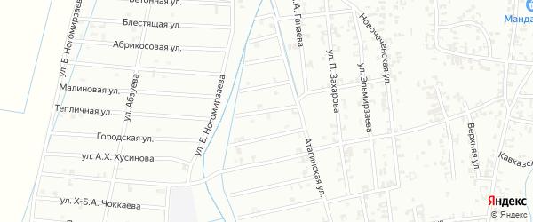 5-й Атагинский переулок на карте Шали с номерами домов