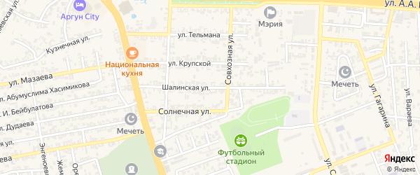 Шалинская улица на карте Аргуна с номерами домов