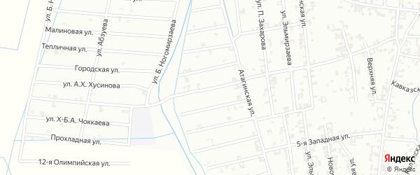 Улица 7-й Атагинский на карте Шали с номерами домов