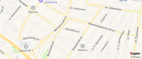 Вишневая улица на карте Аргуна с номерами домов