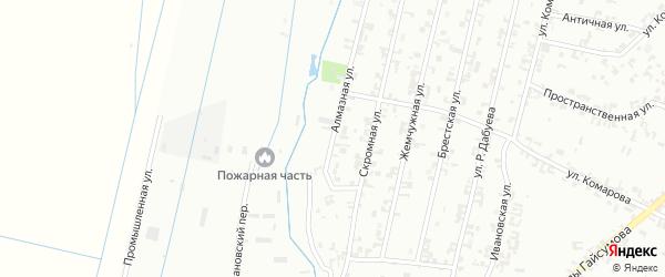 Алмазная улица на карте Шали с номерами домов