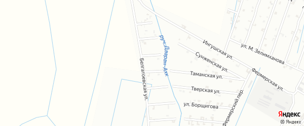 Улица М.Мусаева на карте Шали с номерами домов
