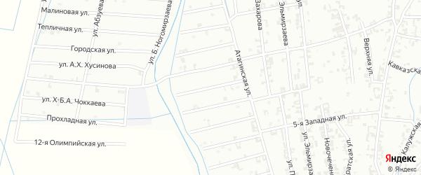 8-й Атагинский переулок на карте Шали с номерами домов