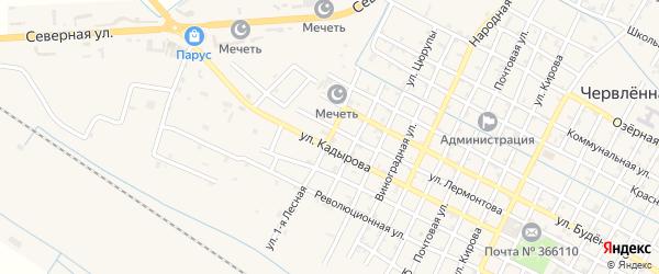 Лесная 1-я улица на карте Червленной станицы с номерами домов