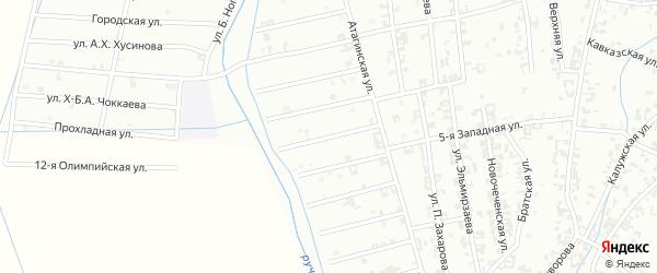 Улица 10-й Атагинский на карте Шали с номерами домов