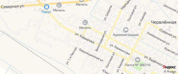 Лесная 2-я улица на карте Червленной станицы с номерами домов