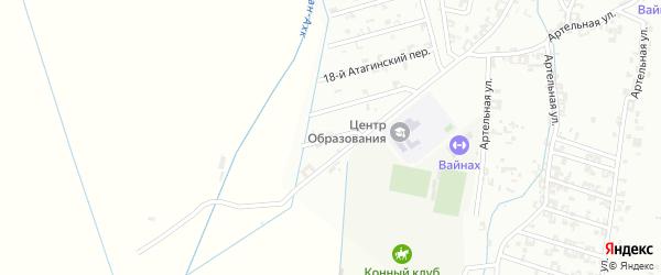 Переулок 2-й Суворова на карте Шали с номерами домов