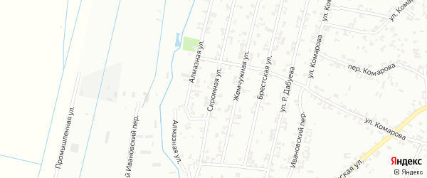 Скромная улица на карте Шали с номерами домов