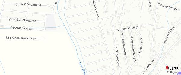 11-й Атагинский переулок на карте Шали с номерами домов