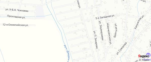 12-й Атагинский переулок на карте Шали с номерами домов