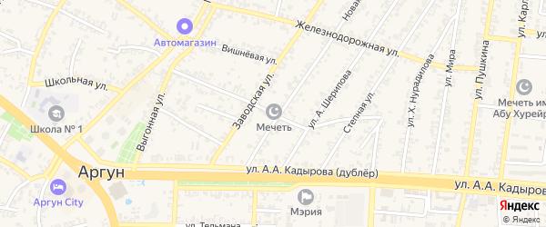 Старозаводская улица на карте Аргуна с номерами домов