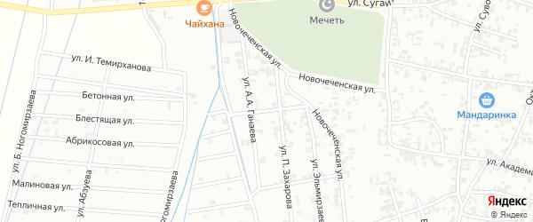 1-я Западная улица на карте Шали с номерами домов